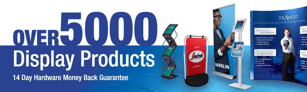 Over 5000 display and print products at Discount Displays