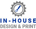 In house design and print service
