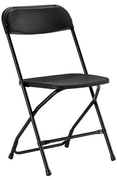 Folding event chair - High Impact polyethylene plastic for superior strength and stability