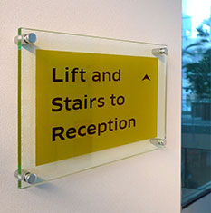 Perspex Reception Signs