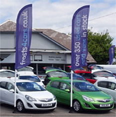 Forecourt Feather Flags