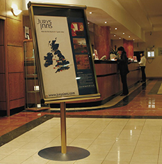 Hotel Display Stand