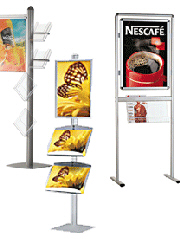 Brochure Holders with Posters