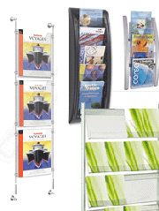 Wall Mounted Brochure Holders