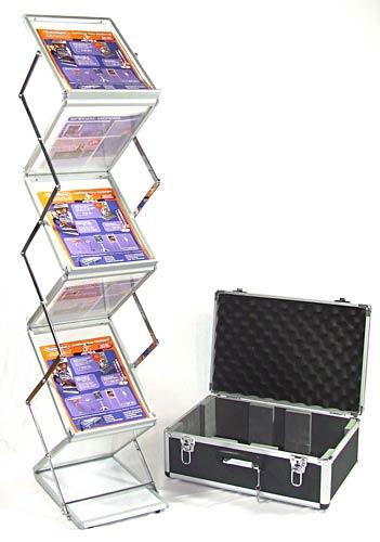 Exhibition Literature Stand : Literature displays compact folding brochure holder