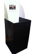 "Square Dump Bin with 7"" Display"