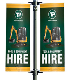 Premium Lamp Post Banner