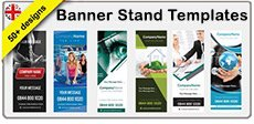 Banner stand templates design tool