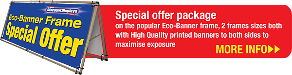Special offer package on the popular Eco-Banner frame