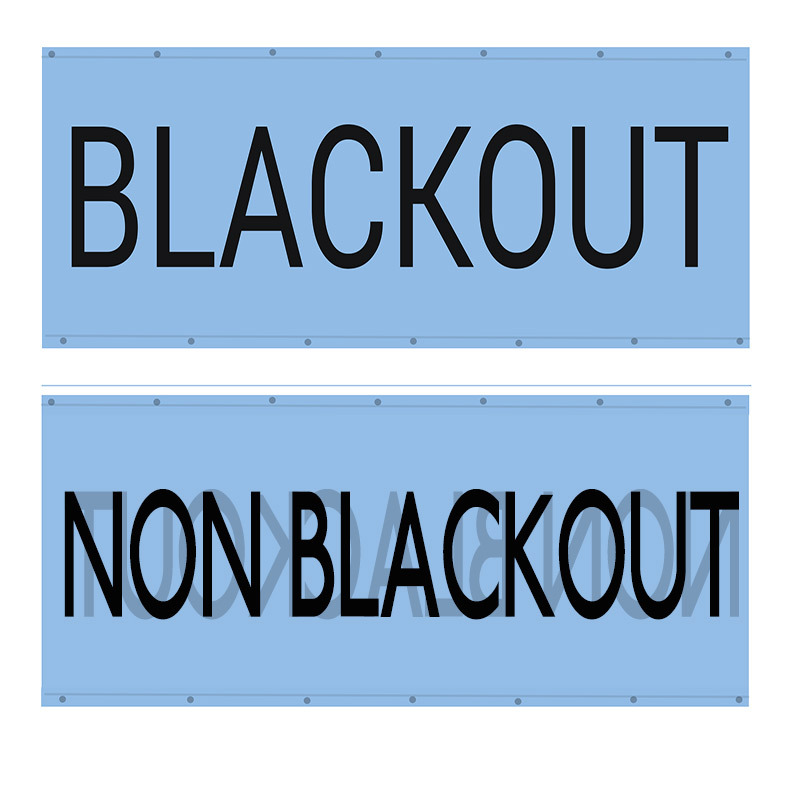 blackout stops opposite side coming through