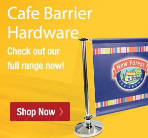 Cafe Barrier Hardware