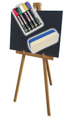 Blackboard and Easel Package