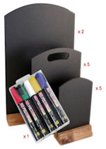 Table Top Chalkboards Bundle