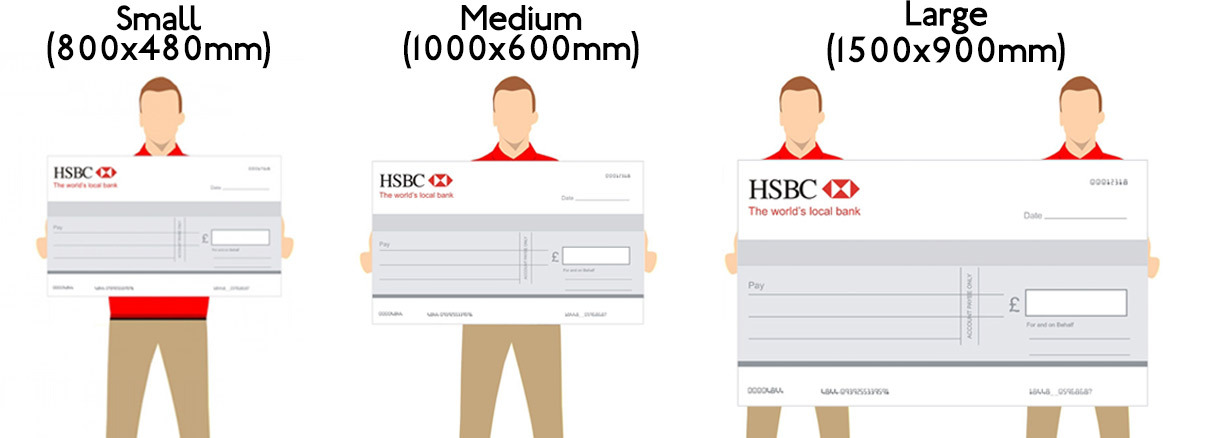 Giant Cheque Size Guide