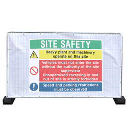 Safety Banners for Heras Fencing