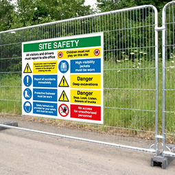 Large Printed Safety Signs