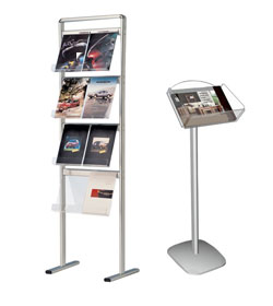 Exhibition Literature Stand : Literature stands leaflet holders brochure racks discount displays