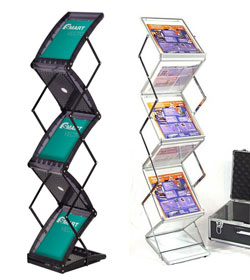 Portable Folding Brochure Holders