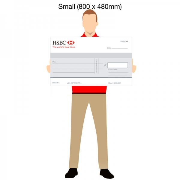 800x480mm Novelty Cheque