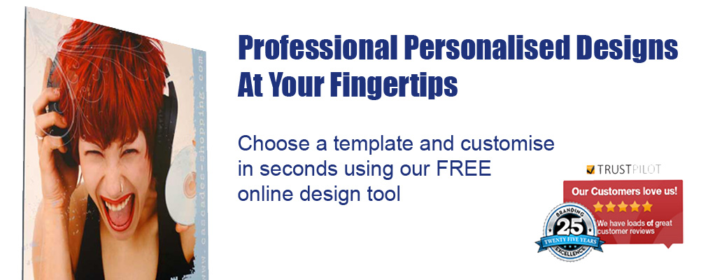 Free personalised large format print templates