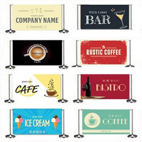 Pre-designed cafe banners