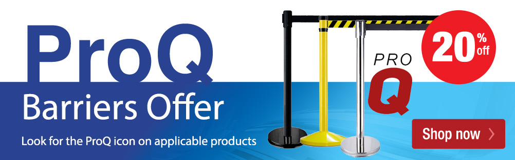 ProQ Retractable Barriers - 20% Off