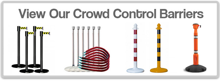 View our crowd control barriers