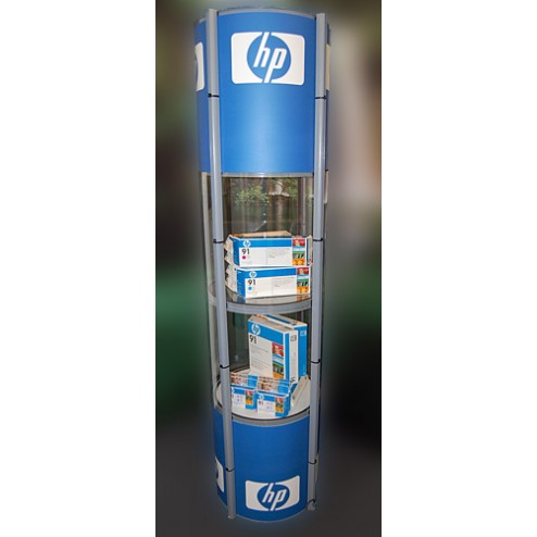 Pop-UP Display Case with x8 Graphic Panels  and Carry bag