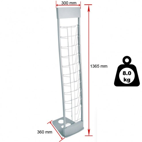 Literature rack dimensions