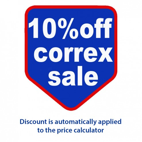 October special offer - 10% off our already low correx prices