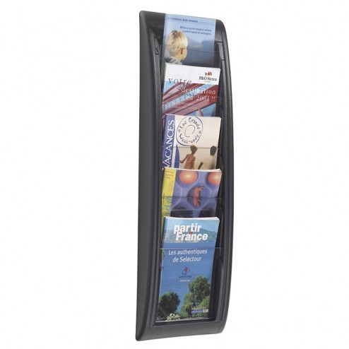 1/3 A4 Wall Leaflet Holder - Black