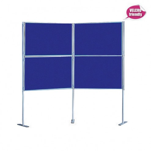 Quad Fabric Pole Display