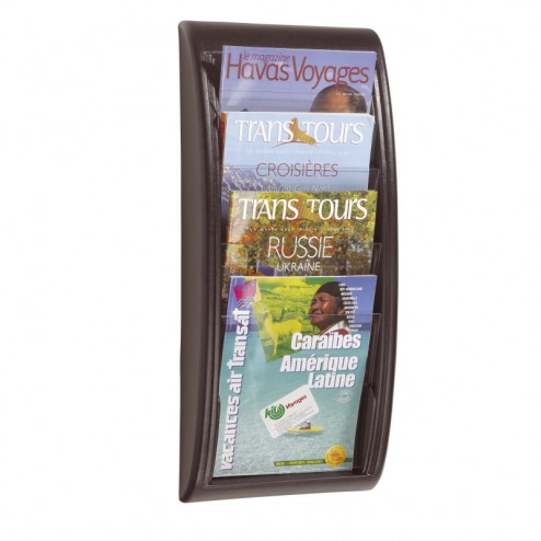 A4 Wall Mounted Brochure Holder - Black