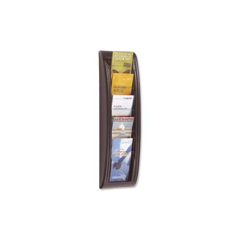 1/3 A4 Wall Mounted Leaflet Dispenser - Black