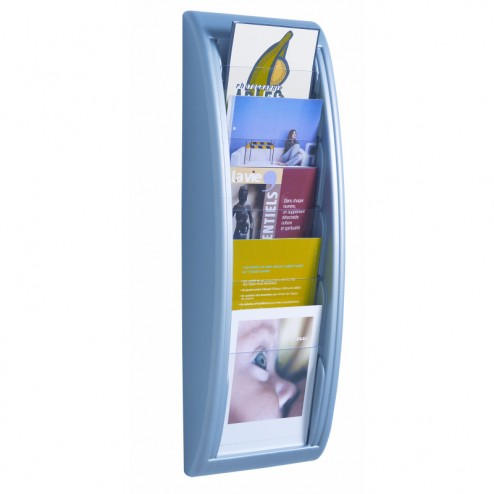 A5 Wall Mounted Literature Display - Silver