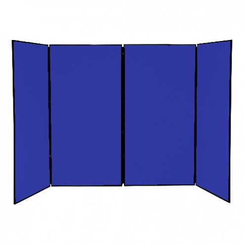 4 Panel Folding Stand - school display boards with plastic safety hinge