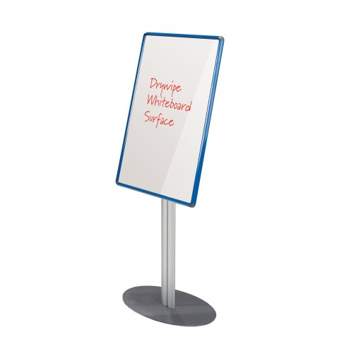 Whiteboard Notice Board - Blue