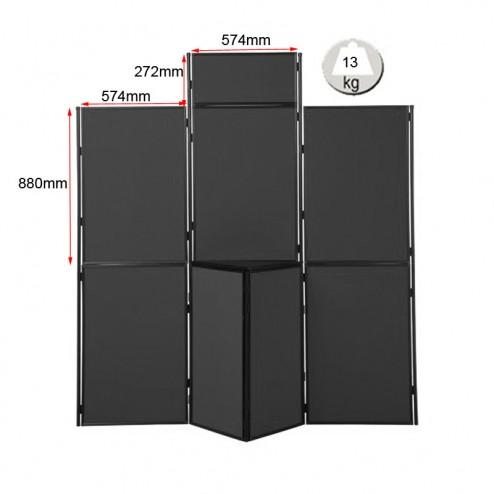 Free standing display panels