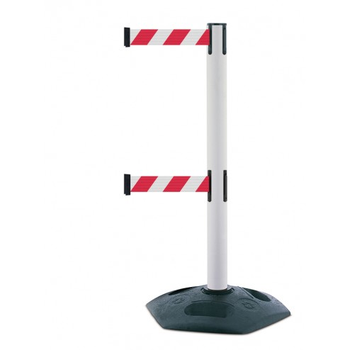 White Double Belt Barrier