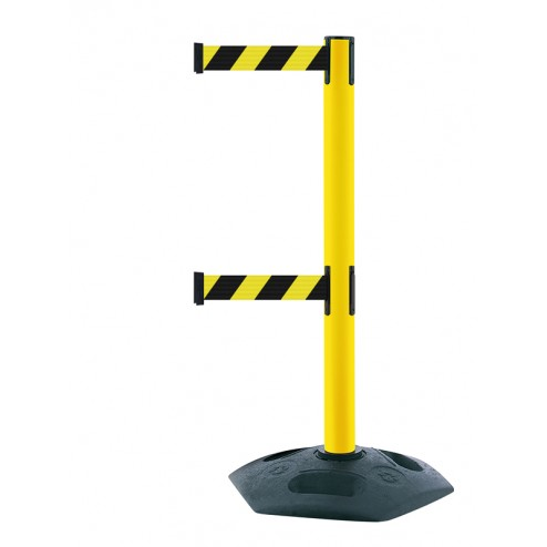 Heavy-duty twin belt barrier