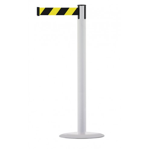 White post -  Black / Yellow Chevrons
