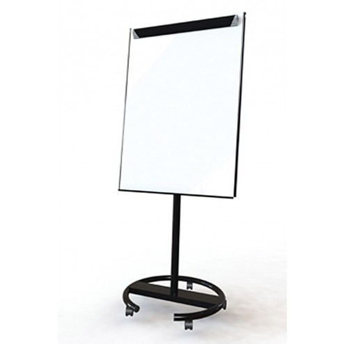 Black mobile whiteboard