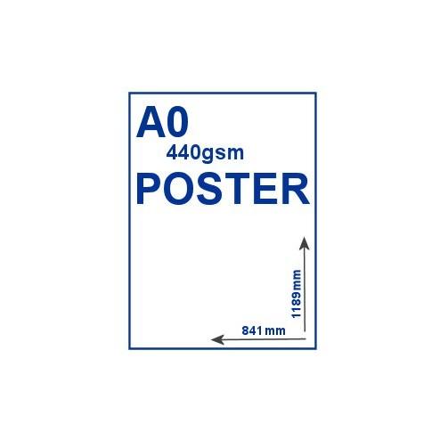 A0 440gsm PVC Poster