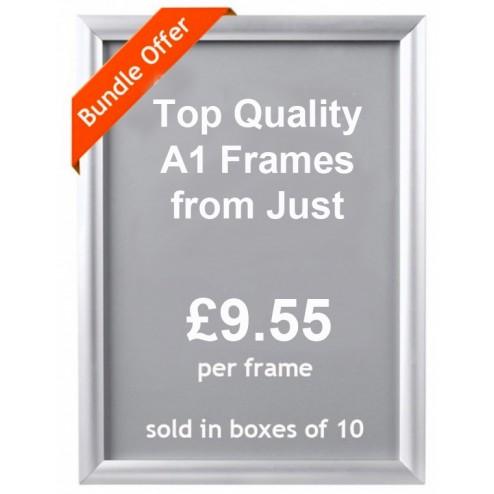 Discount displays snapframes
