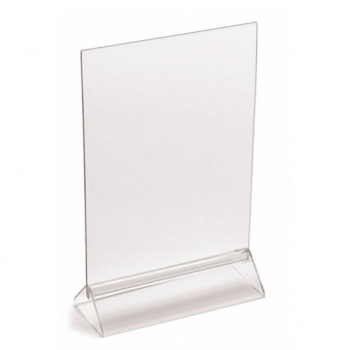 Upright menu holder