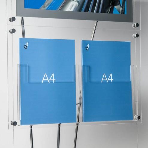 Modern Free standing literature dispenser