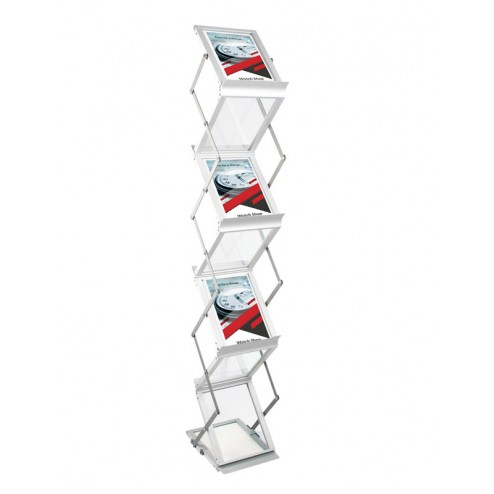 Folding Seven Pocket A5 Literature Rack