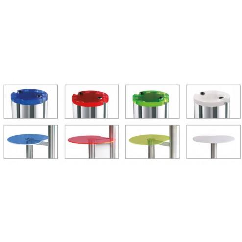 Choice of podium and collar cap colours
