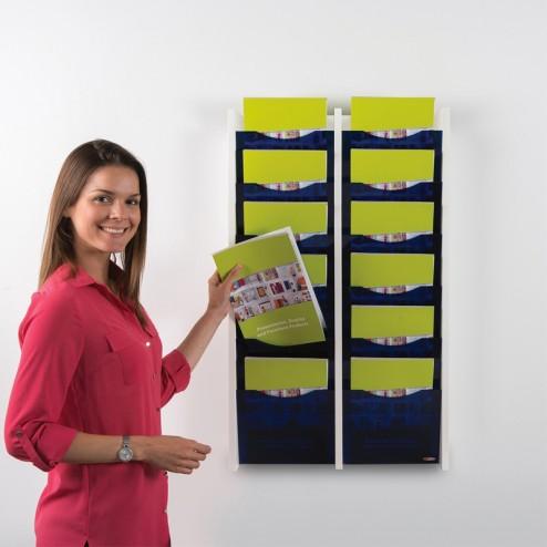 12 x A4 leaflet pockets