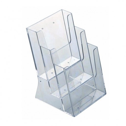 Stacked Perspex Brochure Holders